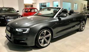 Imagen del Audi A5 Cabrio de Alicimotor en Cieza, Murcia.